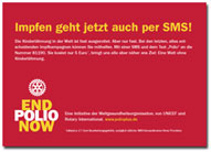 End Polio Now Charity SMS - Flyer/Postkarte